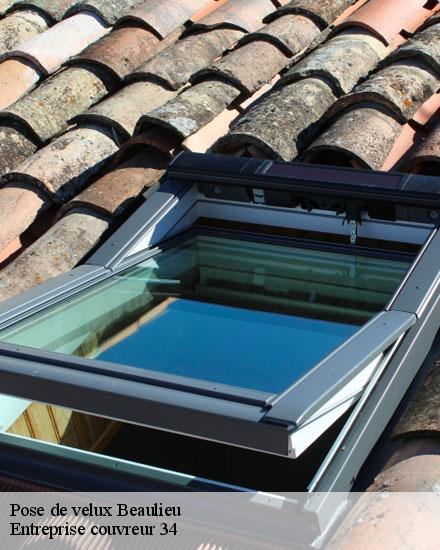 Pose de velux  beaulieu-34160