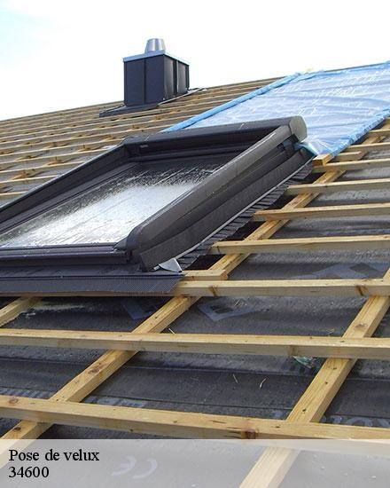 Pose de velux  caussiniojouls-34600 Rudy couverture